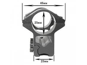 Крепление на оружие для фонаря 2x25mm Ring (планка Вивера 10 мм), фото 2