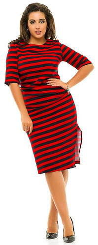 Платье женское полубатал в полоску
