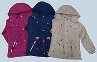 G 50701 Курточка демисезонная для девочки на флисовой подкладке