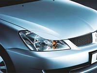 Реснички на фары Mitsubishi Lancer IX 2003-2007 г.в. крашенные серебро