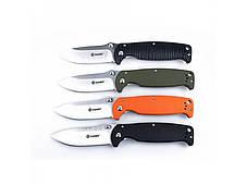 Нож Ganzo G742-1 (черный, оранжевый, зеленый), фото 3