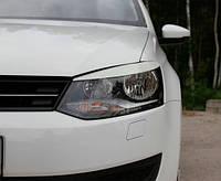 Реснички на фары Volkswagen Polo 2009-2015 г.в.(Фольксваген Поло)