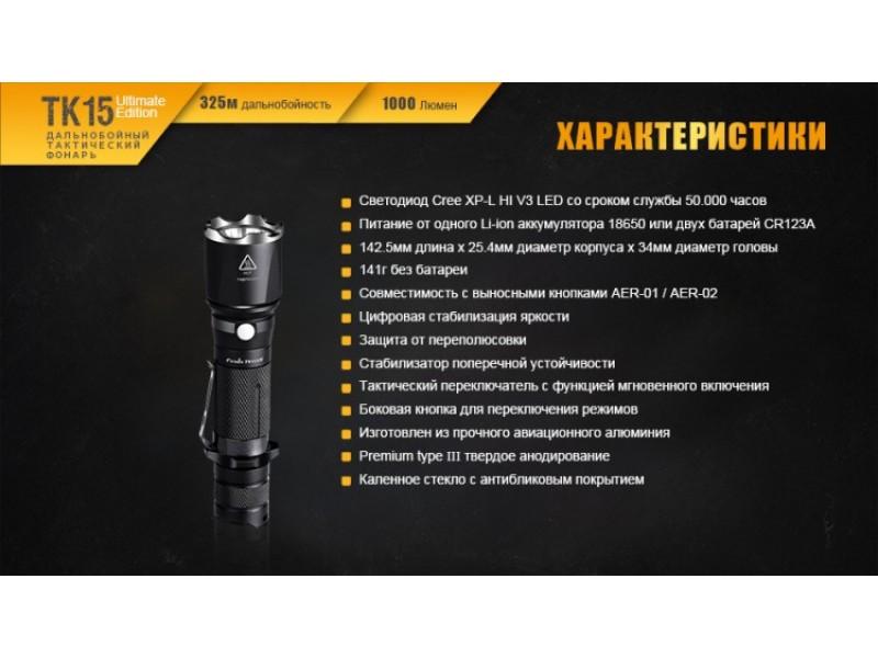 Фонарь Fenix TK15UE CREE XP-L HI V3 LED Ultimate Edition