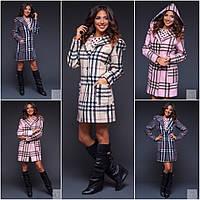 Женское  кашемировое  пальто Барбери