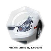 Реснички на фары Nissan SKYLINE 33, 2001-2006 г.в. Нисан Скайлайн