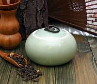Чайница фаянсовая салатовая