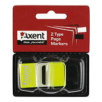 Закладки пластиковые 25х45 мм, 50 шт., желтый, зеленый  неон
