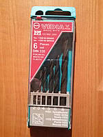Набор сверл VIDIA по металлу, дереву, пластику 2/3/4/5/6/8 мм. 6 шт.