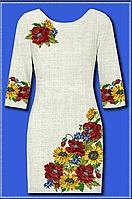 Белое женское платье в виде заготовки, домоткана лен,  до 52 р, 440/400 (цена за 1 шт. + 40 гр.)