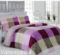 Комплект постельного белья сатин евро Altinbasak Vanessa Lila