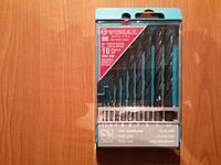 Набор сверл VIDIA по металлу, дереву, пластику 1/2/3/4/5/6/7/8/9/10 мм. 10 шт.