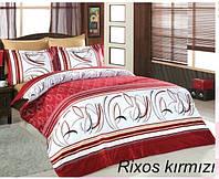 Комплект постельного белья сатин евро Altinbasak Rixos Kirmizi