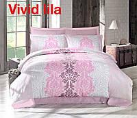 Комплект постельного белья сатин евро Altinbasak Vivid Lila
