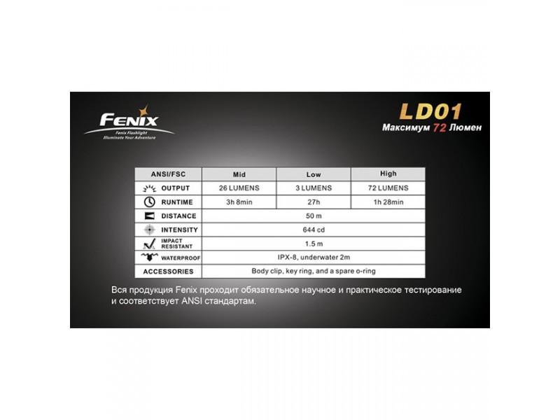 Фонарь Fenix LD01 Cree XP-E