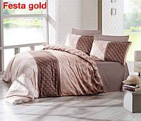 Комплект постельного белья сатин евро Altinbasak Festa gold