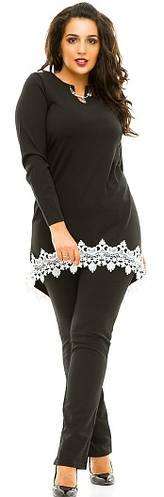 Костюм женский брюки полубатал кружево