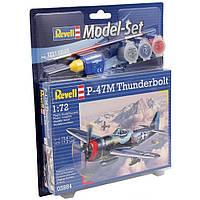 Сборная модель Revell Истребитель-бомбардировщик P-47 M Thunderbolt 1:72 (63984)