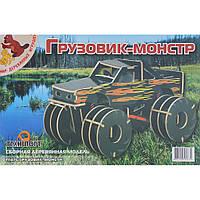 Сборная модель Мир деревянных игрушек Грузовик-монстр (П137с)