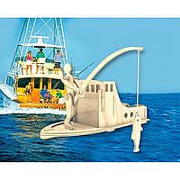 Сборная модель Мир деревянных игрушек Рыболов (С014)