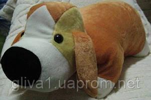 Подушка мягкая игрушка на липучке Лягушка Собаки