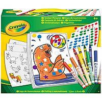 Набор для творчества Crayola с фломастерами Картинки с наклеек (04-6801)