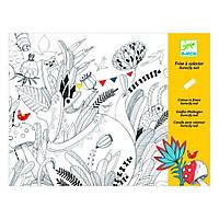 Набор для творчества Djeco Альбом-раскраска Бал бабочек (DJ09645)