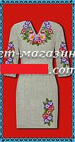 Женское платье, заготовка для вышивки, габардин-лен,  до 52 р, 390/350 (цена за 1 шт. + 40 гр.)