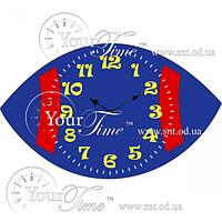 Часы настенные Регби детские МДФ 34,8 * 4,5 * 20,5 см