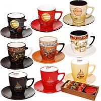 Сервиз чайный 12 предметов Мокко (d-7см,h-8 см,обьем-220мл,блюдце d-14см)