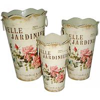Декоративная металлическая ваза Волшебный сад 14*23см