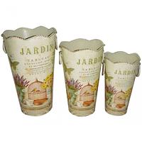 Декоративная металлическая ваза Прованс 11*19см