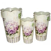 Декоративная металлическая ваза Гортензия 11*19см