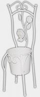 Декоративное кашпо-стульчик 45 см, белый