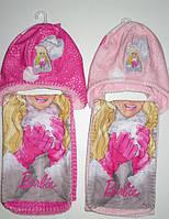 Шапка+шарф для девочек Barbie 52-54см.