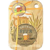 Доска кухонная разделочная с отверстием 'Natural Beer' (20*30см)