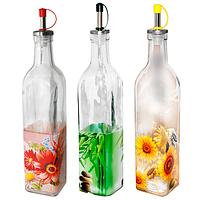 Бутылка для масла микс (Букет, Зеленый бамбук, Солнечный день) 0,5л