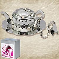 Заварник для чая в чашке с подставкой 6 * 2,5 см, декор Чайник