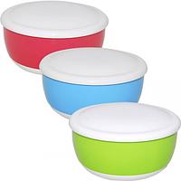 Емкость для хранения продуктов с крышкой 15,5 * 7,5 / 0,86л 3 цвета Микс
