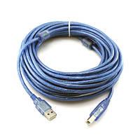 Кабель USB AM-BM 10м, шнур для принтера, сканера