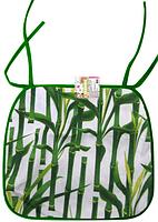 Подушка-сидушка для стула с завязками 35 * 40см Бамбук