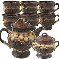 Набор чайный 8пр. (чайник-1,4л, сахарн.-600мл, 6 чашек-300мл) Чайная колекция