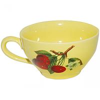 Чашка чайная лимон с деколью 380 мл
