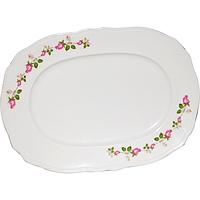 Блюдо белое с деколью 24 см