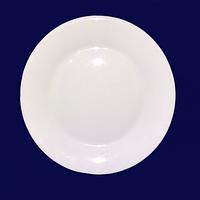 Тарелка белая 7,5 Хорека 19см (Русский стикер)