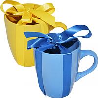 Чашка желто-голубой Микс 400мл