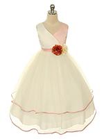 Нарядное пышное платье с атласным лифом на девочку 2-13 лет (4 цвета)
