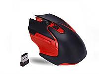 Беспроводная игровая оптическая мышь Wireless Gaming  Черный с красным