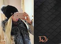 """Модная молодежная шапка """"Dior"""" РАЗНЫЕ ЦВЕТА"""