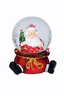 """Снежный шар """" Дед Мороз несет елку"""", купить снежный шар в подарок"""