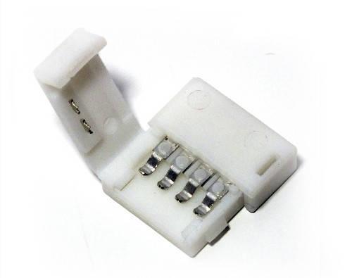 Коннектор для RGB светодиодной ленты №3 10мм (5050)зажим-зажим Код.57334, фото 2